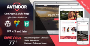 AVENDOR - WordPress Responsive Multi-purpose Theme v1.2