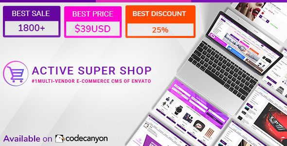 Active Super Shop v1.5.1 - Multi-vendor CMS | PHP Scripts