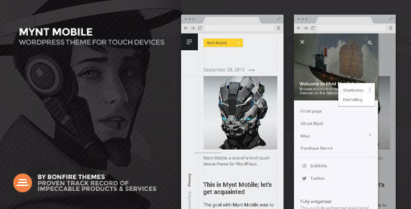 Mynt Mobile Theme for WordPress